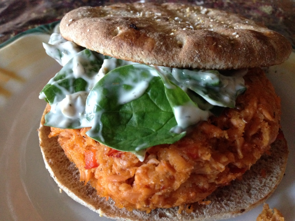 chipotle Salmon Burger